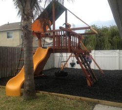 Completed Playground with Rubber Mulch