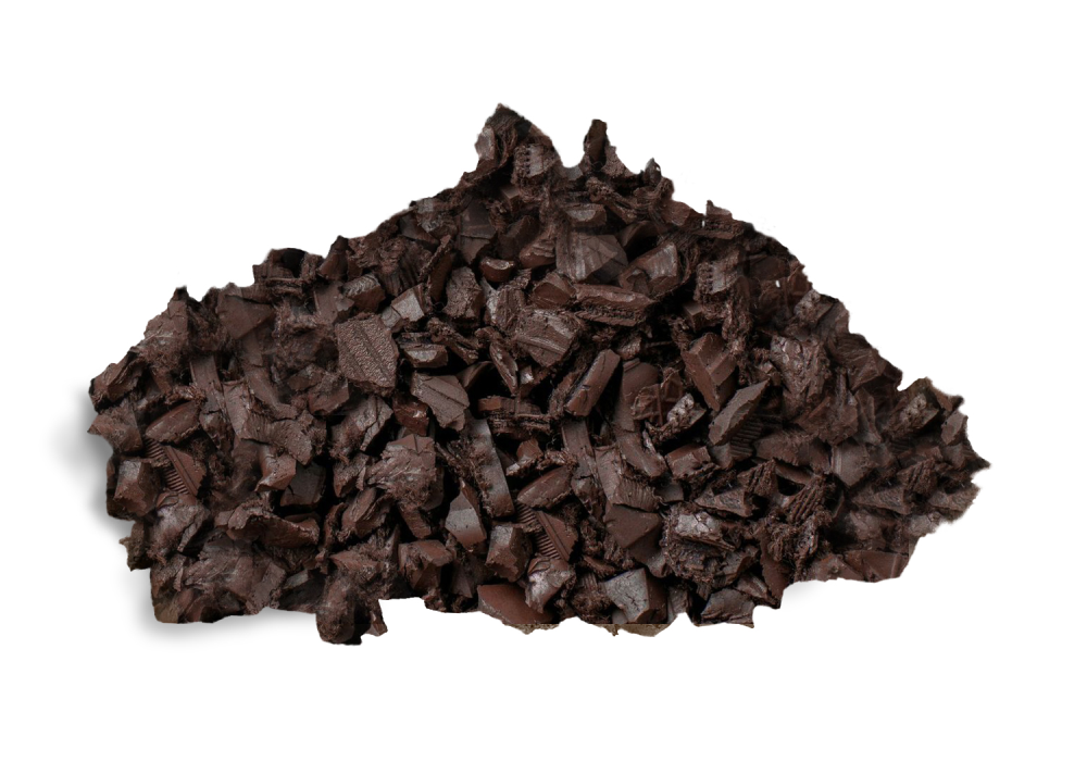 Rubber Bark Chips ~ Brown rubber mulch best