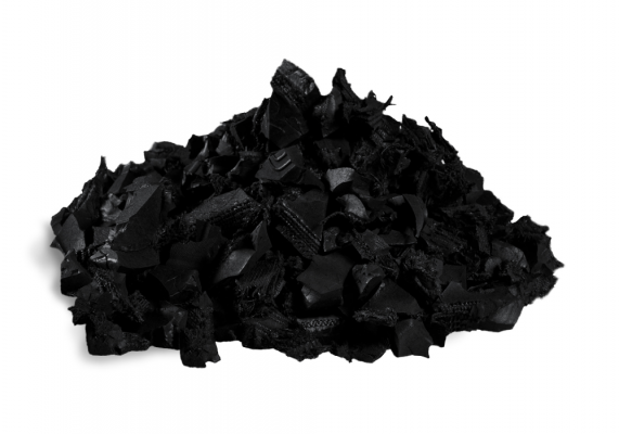 Painted Black Rubber Mulch